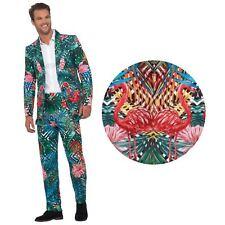 Smiffy's 40342l Hawaiian Tropical Flamingo Suit Mens Multi-colour Large