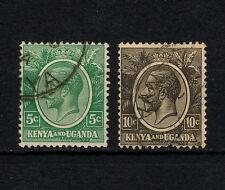 (YYAC 174) British East Africa 1927 USED KUT Kenya Uganda