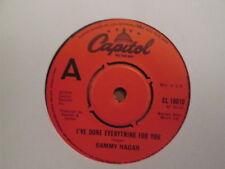 Sammy Hagar – I've Done Everything For You - UK Capitol 1978 Factory Sample