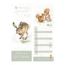 Wrendale Designs The Country Set 2019 Slim Calendar – Illustrated By Hannah Dale