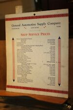 Antique General Automotive Supply Company Shop Services Prices 1920's Penn