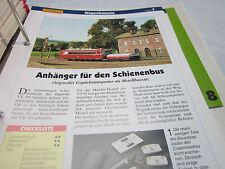 Modellbahn Schritt für Schritt 7 Fahrzeuge Wasgenbausatz Anhänger Schienenbus