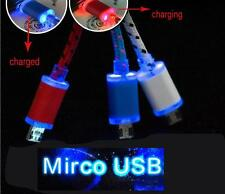 Visible LED Light V8 Micro USB Charger Data Sync Cable for Samsung Galaxy S4 HTC