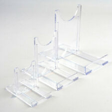 """Adjustable Display Stands Twist Clear Plastic 5cm-25cm, 2"""" to 10"""" Plate, Bowl"""