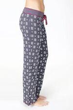 New PJ SALVAGE Nordic Snowflake Charcoal Thermal Cozy Pajamas Lounge Pants M