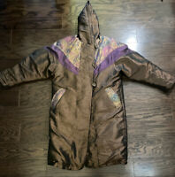 Cyclone Down Jacket Rare Iridescent Long Puffy Winter Vintage Women's Size 4 Vtg