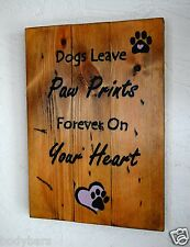 Handmade Reclaimed Pallet Sign Dog Pet Theme A4 Size Hand Painted Wall Plaque