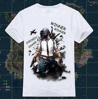 PUBG Winner Winner Chicken Dinner T-Shirt Men's Gamer Fashion Game Clothing Tee