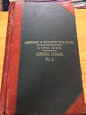 Antique Ledger 1950s-65 Lord Halifax Garrowby Hickleton Estates Rent Book York