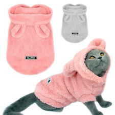 Pet Pajamas for Cats Chihuahua Clothes Puppy Dog Pyjamas Hoodie Fleece Sleepwear