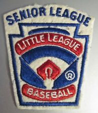 Vintage Little League Baseball Senior League Embroidered Sew On Patch Used