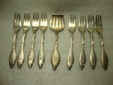 """New listing 9 Prima Ns Alp Sweden Silverplate Herring Fish Forks Fish Handle 4 1/2"""""""