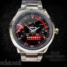 NEW SALE Reloj Audi RS6 Logo Car Racing Spedometer Sport Metal Watch##*