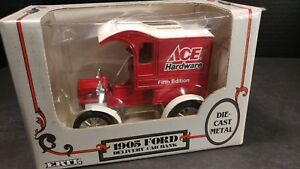 ERTL 1905 DELIVERY CAR BANK ACE HARDWARE FIFTH EDITION DIECAST MODEL 1:25 SCALE