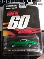 Greenlight Hollywood Gone In 60 Seconds 1967 Ford Mustang Eleanor GREEN MACHINE