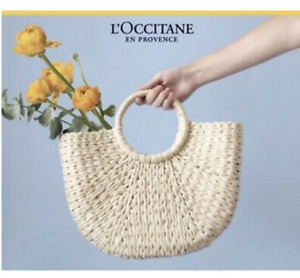 L'OCCITANE straw tote bag NEW HANDMADE