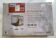 """18"""" iCrate Tiny Pet Dog Metal Cage W/ Single Door Folding Kennel Crate, #gw9t"""