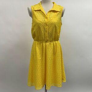 Emma & Michele Women's Dress Size 12 Yellow Sleeveless