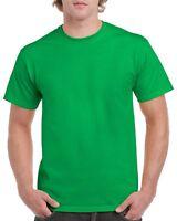 Green GILDAN 5000L Men's Plain 100% Cotton Blank T-shirt Tee sizes S - 2XL