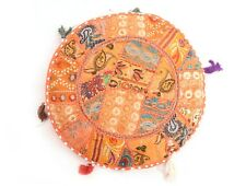 """Cushions Cover Vintage Indian Khambadia Embroidery Patchwork Mosaic 18"""" Pillow"""