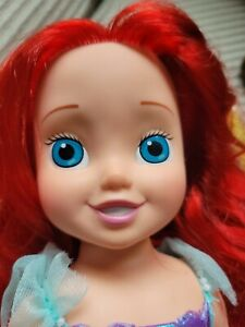 """Disney Ariel Doll 2002 Little Girl Toddler 15"""" * Playmates Toys *Lots of hair*"""