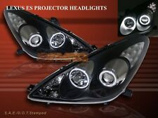 02-03 LEXUS ES300 / 04-06 ES330 PROJECTOR HEADLIGHTS CCFL TWIN HALO BLACK