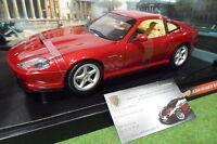 FERRARI 550 MARANELLO bordeau 1/18 HOT WHEELS 25734 voiture miniature collection