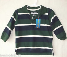 Greendog Little Boys Stripe Long Sleeve Polo Shirt size 18 Months NWT B5098