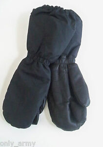 Army Mittens With Trigger Finger Military Leather Fur Lined Waterproof Winter