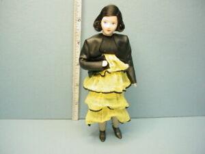 "Miniature Young Woman ""Jennifer"" #10701 Dollhouse Doll Handcrafted Erna Meyer"