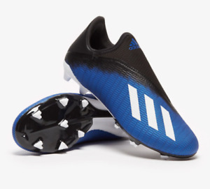 Adidas Soccer Cleats Mens 9 Authentic X 19.3 Laceless LL FG Training Blue White