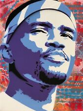 Frank Ocean 8x10 Inch Art Print Signed by Artist - Hip Hop Rap Pop Spray Paint