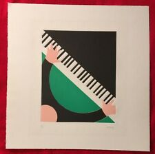 Thom De Jong, Male Piano,Original Relief Print, Signed, Artist Proof