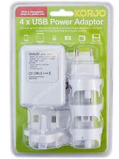 Korjo USB04 4 Port USB Travel Adaptor