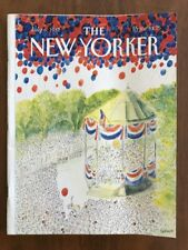 1987 July 6 The New Yorker Magazine Fourth Balloons Bandstand Sempe