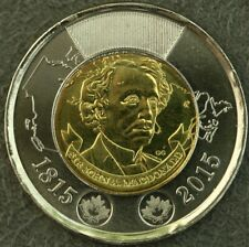 CANADA 2015 $2 TWO DOLLARS TOONIE SIR JOHN A. McDonald FROM MINT ROLL