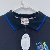 Walt Disney World Mens Polo Black Large NWT