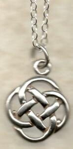 real new 925 sterling silver Celtic pendants trace & Belcher chains