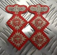 Genuine Military Issue Officers Braided 2 Pip & Eagle Insignia patches L & R