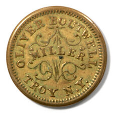 USA Civil War Token Oliver Boutwell Miller 1863 Troy NY Brass Plain Edge 890B-1b