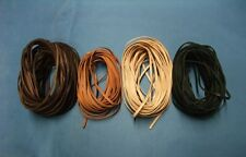 Lederriemen Flachrimen 3 x 1mm aus Kängruleder in vier verschiedene Farben