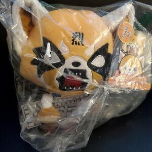 """Gund Sanrio Netflix Aggretsuko Rage Red Panda Plush 9"""" New/No Sound"""
