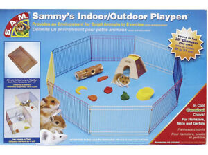 Sammy's Indoor/Outdoor Playpen Hamster run, Packs Flat For Storage,Play area 36""