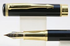HERO No. 8893 Lacquered Black Fine Fountain Pen with Gold Plated Trim