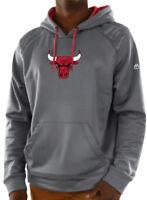 Chicago Bulls Grey Armor Pullover Synthetic Majestic Hoodie Sweatshirt