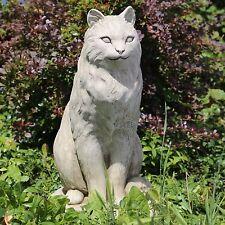 Steinfigur Gartenfigur Tierfigur 50cm Katze Deko Steinguss 24kg Skulptur Statue