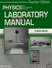 A Beka Physics Laboratory Manual Teacher Edition - 12th Grade