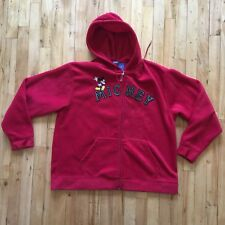 Mickey Mouse Athletics Disney Red Hoodie XL