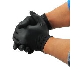 2pc Powder Free Black Disposable Nitrile Gloves Tattoo Piercing Workshop Latex