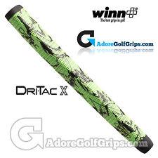 Winn Dri-tac X MEDALLIST Pistol Putter Grip - Green / Black Marble Tape